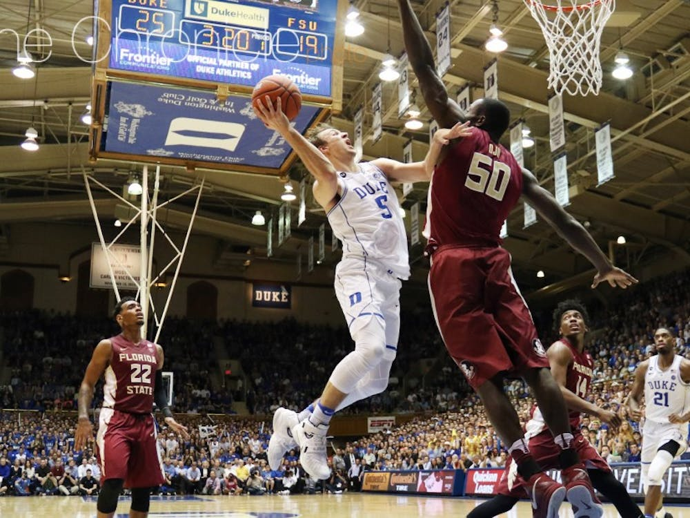 The sophomore was erratic in his first season but has been a steadying presence on the court for a banged up Blue Devil team.