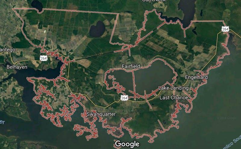 Hyde County, North Carolina   Courtesy of Google Maps