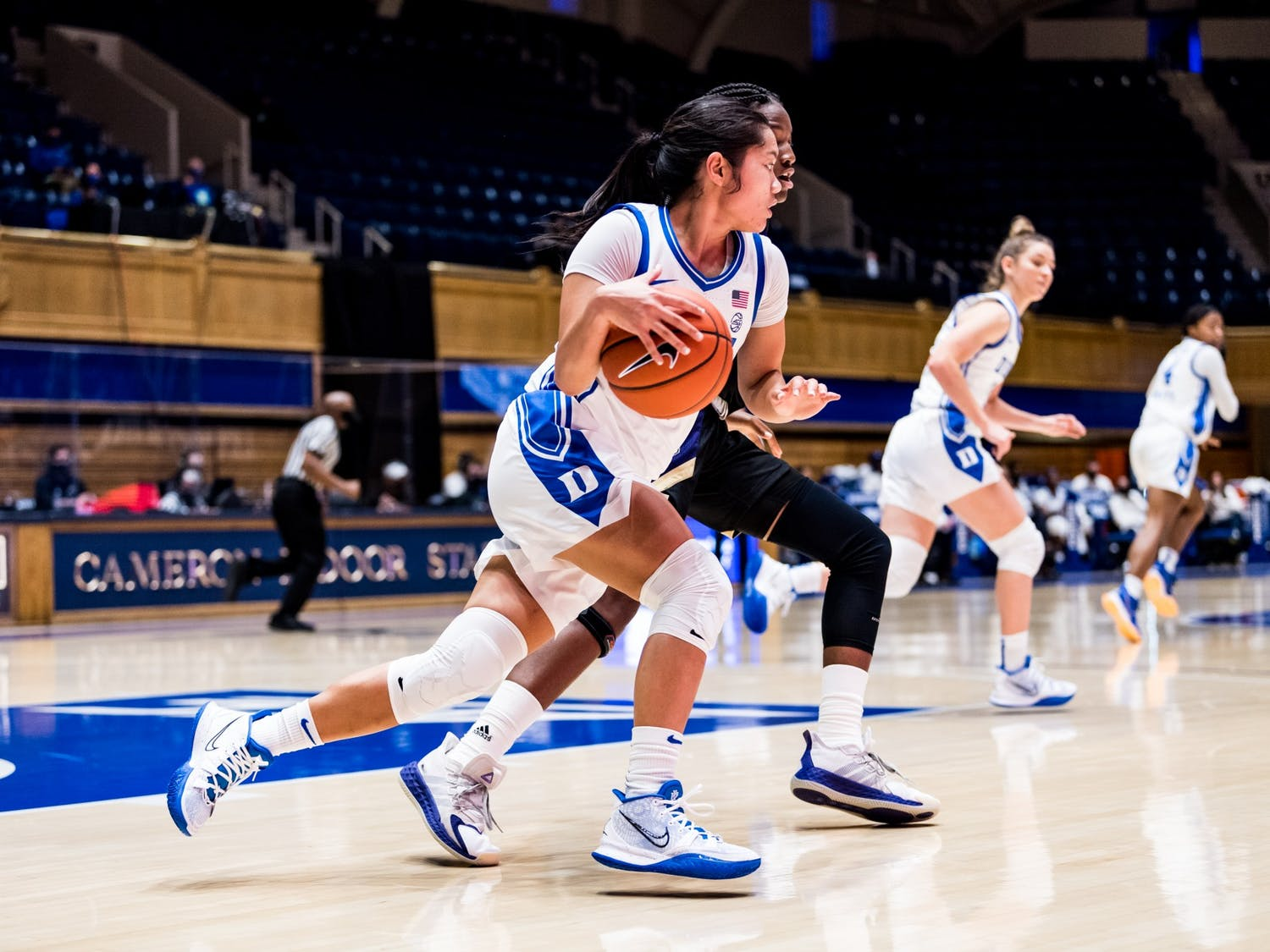 Freshman point guard Vanessa de Jesus has quickly proven herself to be one of Duke's go-to options.