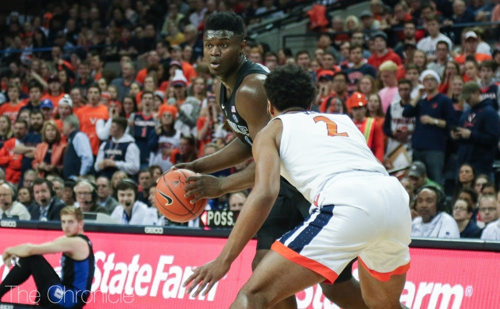 <p>Zion Williamson and the Blue Devils remained at the No. 2 spot in the AP Top 25.</p>