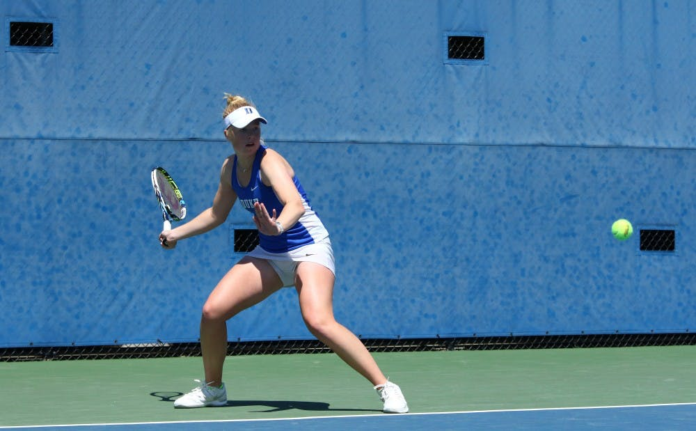 <p>Kaitlyn McCarthy played three tiebreakers Wednesday but came out on top in two to end a five-match losing streak and keep her freshman season alive.</p>