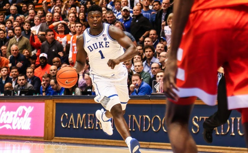 Freshman phenom Zion Williamson may struggle Saturday against Virginia's famous pack line defense.
