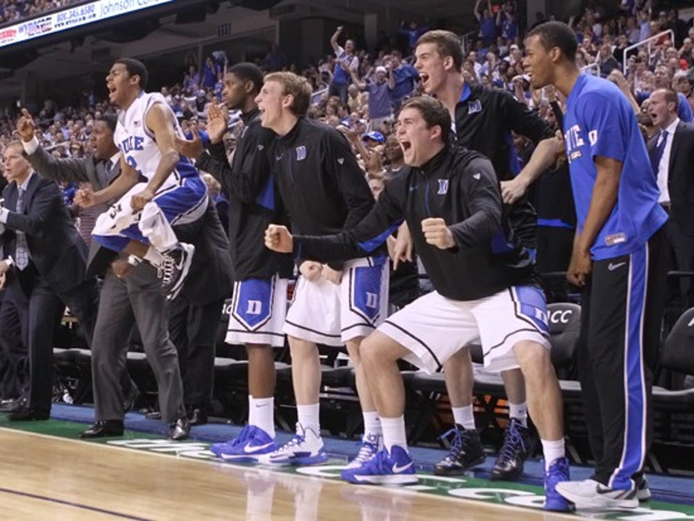 Duke's bench has spent most of its time cheering, not playing, this season.
