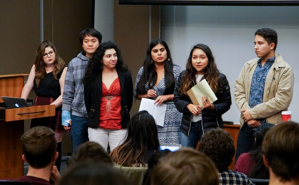 <p>During Duke Student Government's Wednesday meeting, students presented a resolution encouraging the administration to make Duke a sanctuary campus.</p>