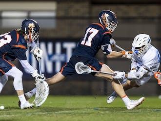 Graduate student Michael Sowers notched the game-winner for Duke men's lacrosse Thursday.