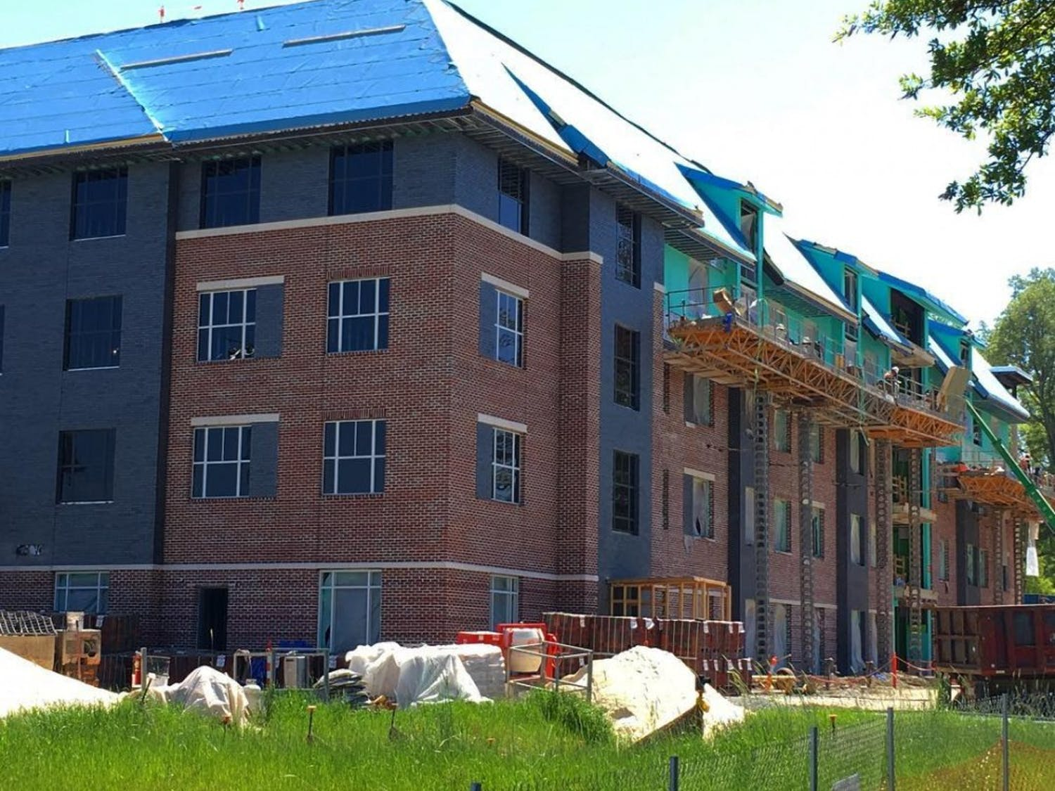 The new residence hall on East Campus will be completed in January 2018.