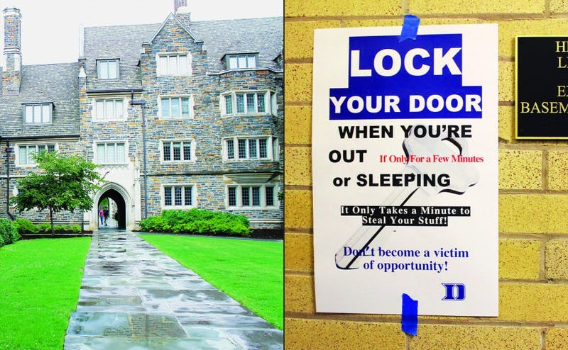 Few Quadrangle was one of the locations affected by several burglaries reported during upperclassmen move-in.