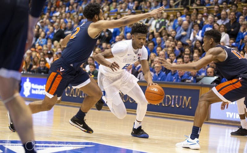 Cam Reddish drained his first three triples against St. John's.