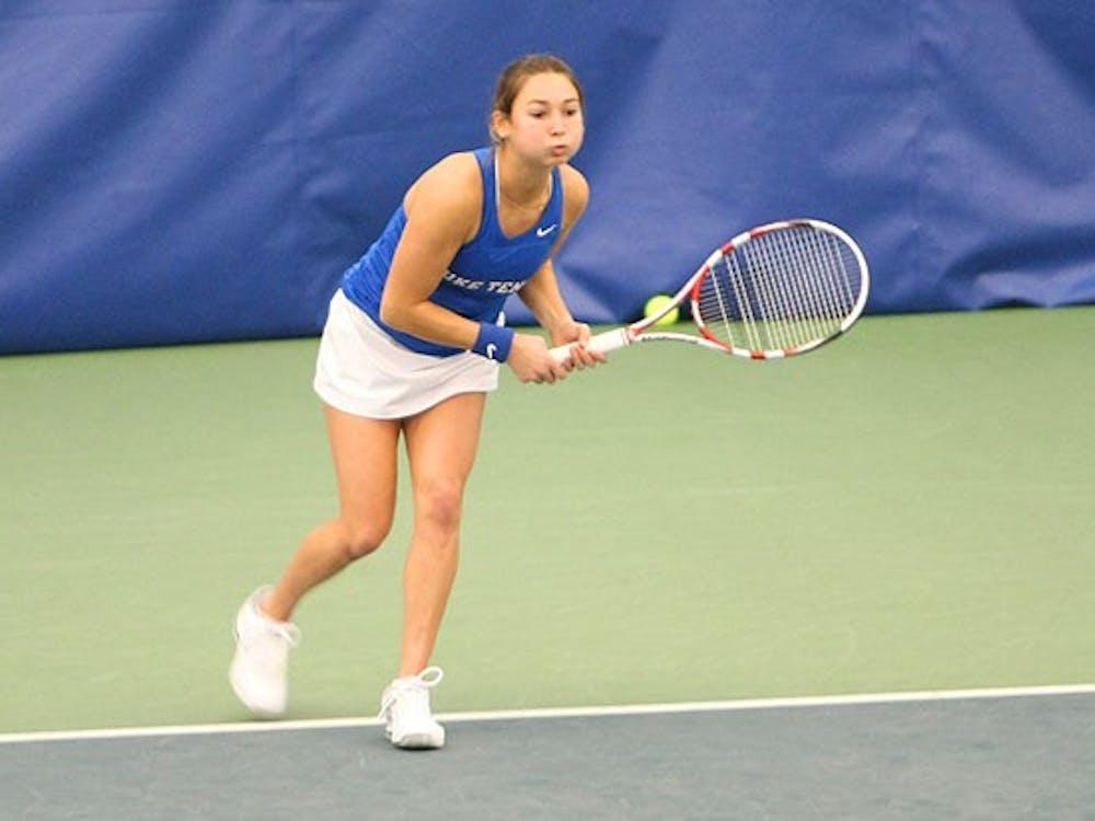 Mary Clayton earned one of Duke's easier wins against Princeton, winning 6-0, 6-3 in singles.