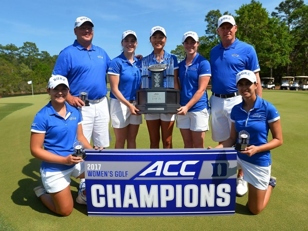 Teams participate on day three of the 2017 ACC Women's Golf Championship at the The Reserve Golf Club on Saturday, April 15, 2017 in Pawleys Island, South Carolina.