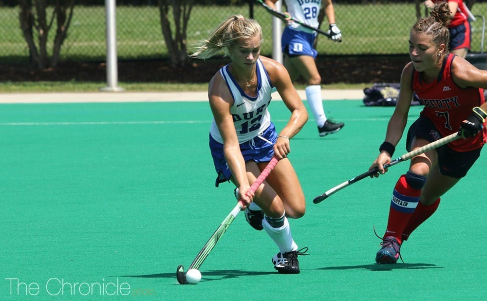 All-American Margaux Paolino graduated this past May, leaving Duke's attacking line to the younger Blue Devils this season.