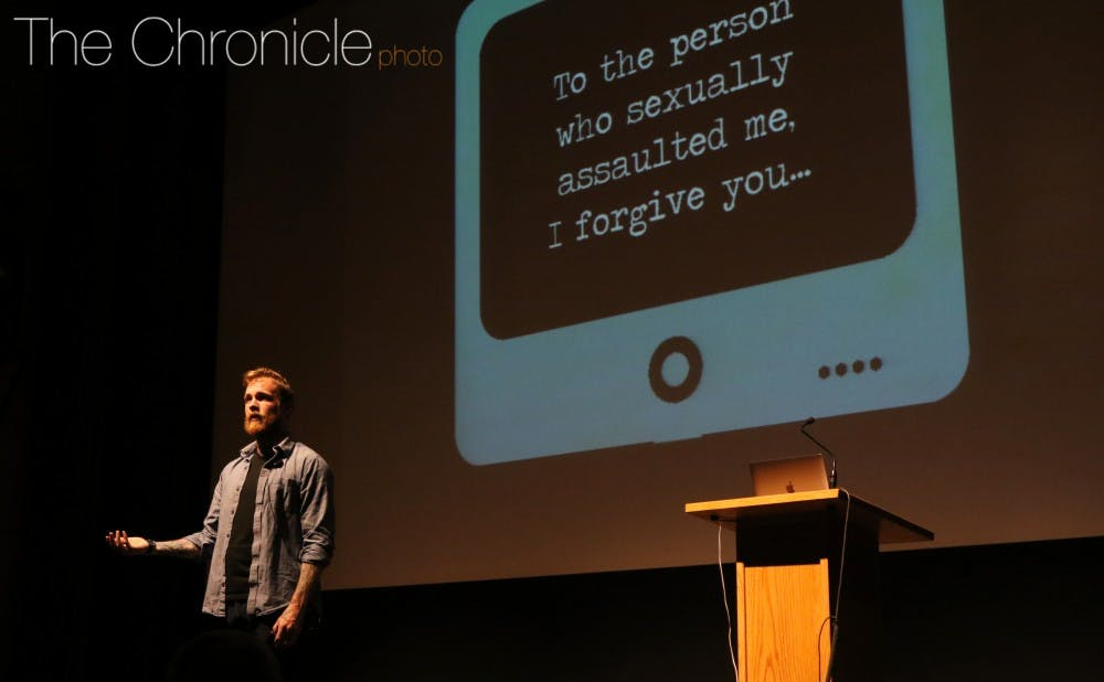 <p>Professional speaker and writer&nbsp;Tim Mousseau said that students can prevent sexual assaults from happening by sharing their stories and supporting victims.&nbsp;</p>