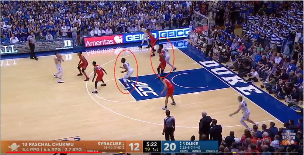 Film Room Breaking Down Syracuse S 2 3 Zone And How Duke Can Attack