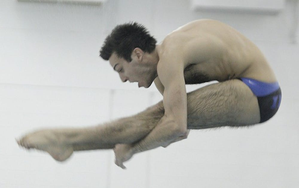 Duke diver Nick McCrory, who earned a bronze medal at the 2012 Olympics in London, won the 1-meter competition against South Carolina.