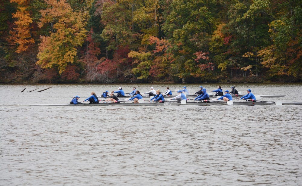 <p>For the second time this season, Duke failed to register a victory in any of its races against a top-10 opponent.</p>