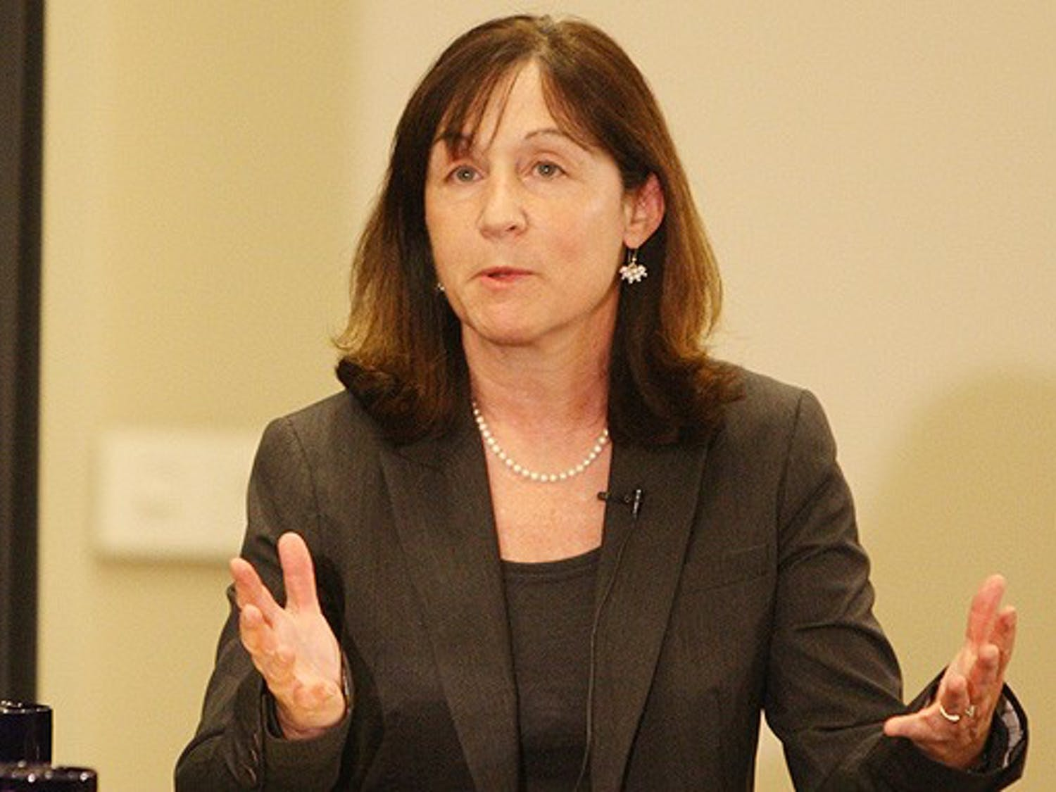 Jane Mayer spoke at the Sanford School of Public Policy Monday. The investigative journalist offered her thoughts on the war on terror and disputed the effectiveness of FBI and CIA interrogation tactics.