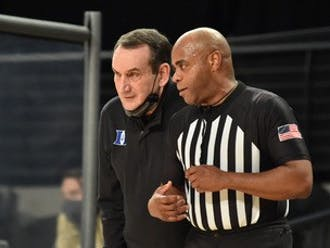 Mike Krzyzewski will have a tough halftime speech for his team trailing by 16.