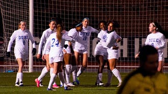 Redshirt senior wingback Mia Gyau's goal in the 61st minute was the lone score of Friday's win for Duke.