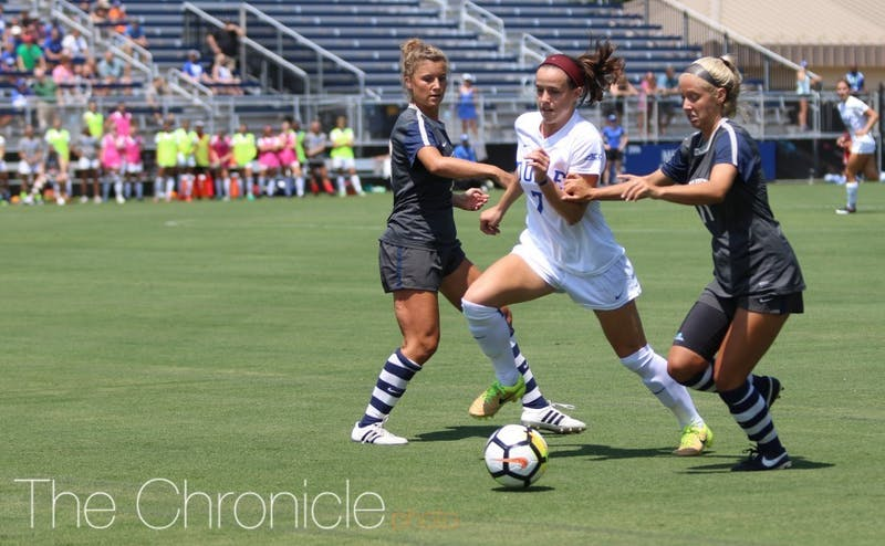 Taylor Racioppi scored the Blue Devils' game-winning goal Saturday.