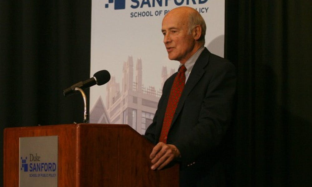 Joseph Nye, assistant secretary of state for the Bill Clinton administration, delivered a speech on foreign policy at the Sanford School Tuesday.