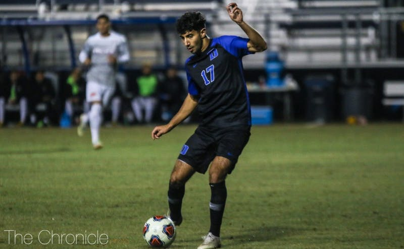 Issa Rayyan scored the only goal of Sunday night's match on a rebound after Pacific's goalkeeper had to make a save on a shot by Daniele Proch.