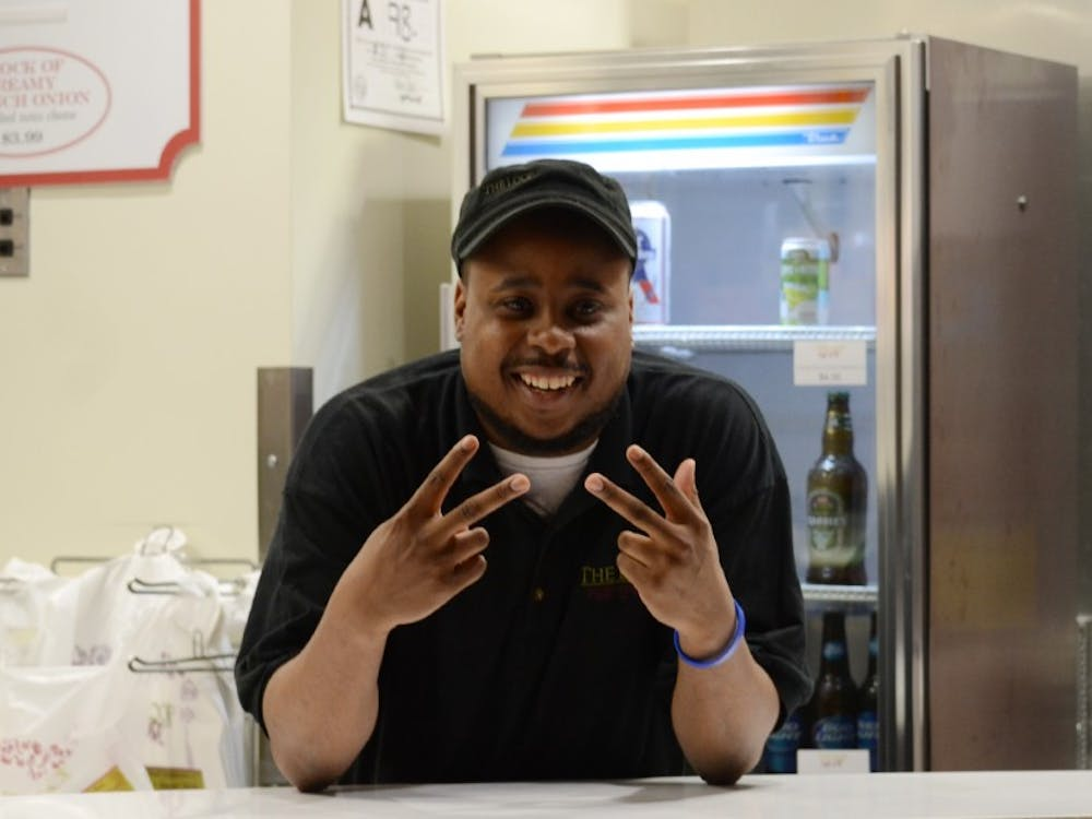 Twenty-nine year old Javon Singletary has become the unofficial greeter of The Loop Pizza Grill