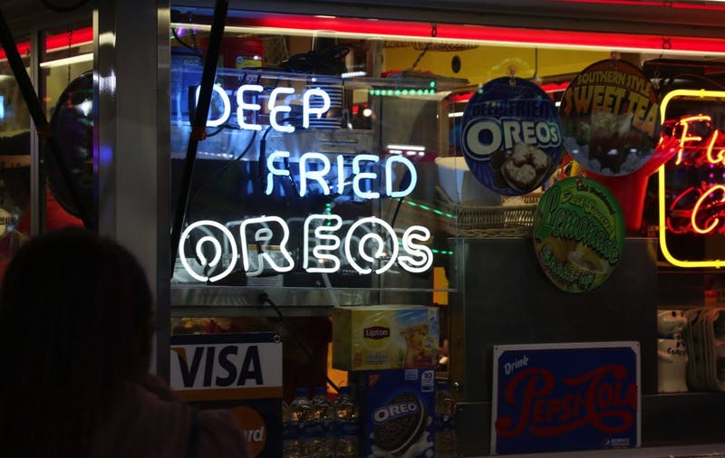 The N.C. State Fair features a wide array of sweet delights, like deep fried Oreos and Krispy Kreme burgers.