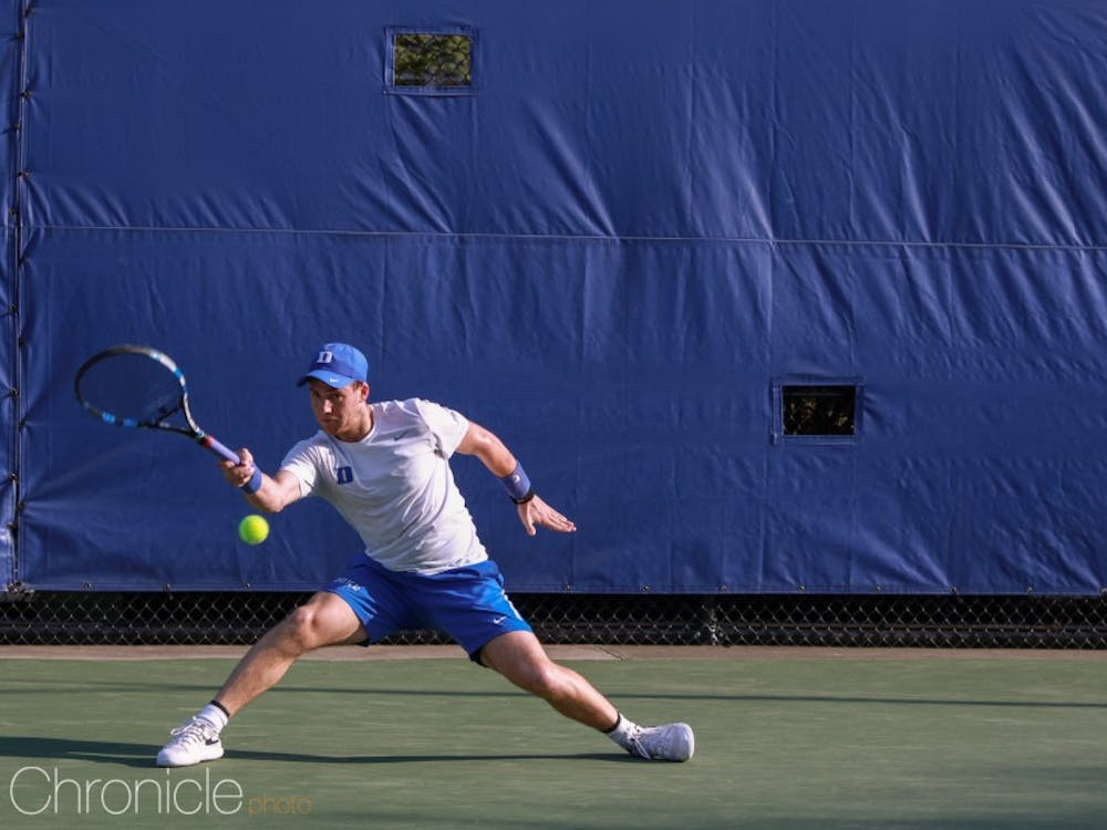 Robert Levine was one of a trio of players who represented Duke men's tennis this weekend.