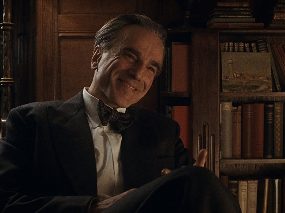 "Daniel Day-Lewis plays dressmaker Reynolds Woodcock in Paul Thomas Anderson's latest film, ""Phantom Thread."""