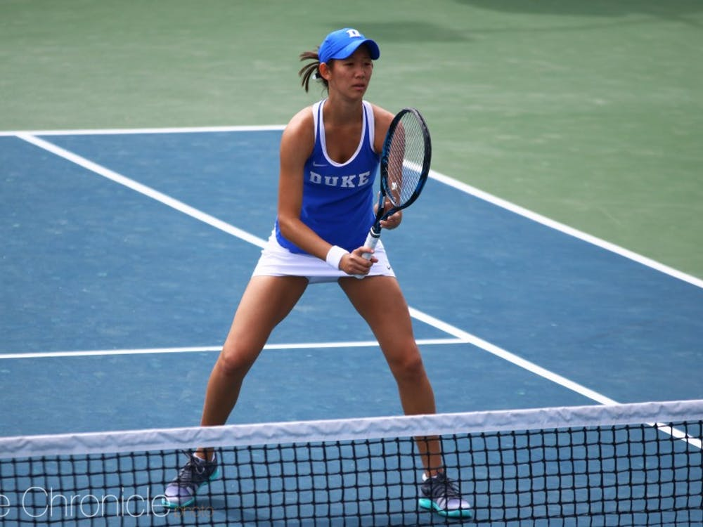 Meible Chi swept her match Wednesday.