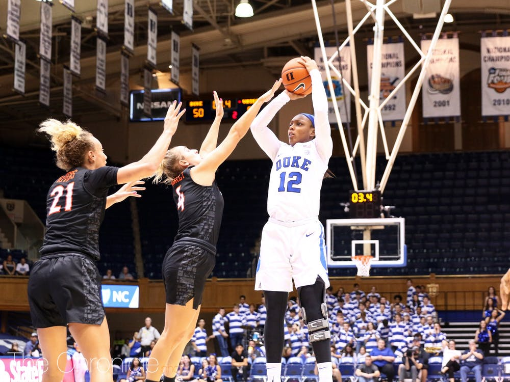 <p>Mikayla Boykin was the driving force behind the Blue Devils' victory Sunday.</p>