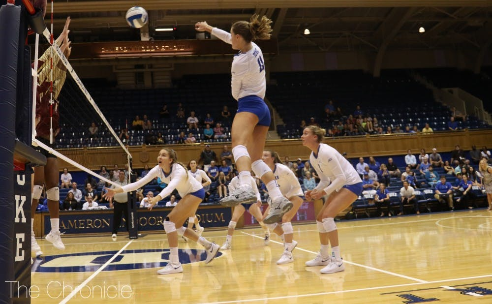 <p>Duke volleyball snuck into the NCAA tournament after knocking off a top-five Pittsburgh squad at home.</p>