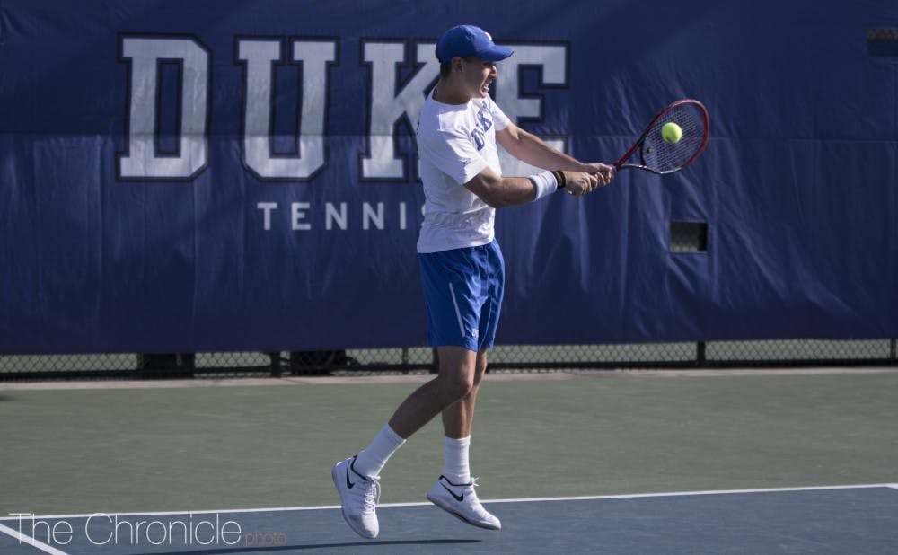 Nico Alvarez was the Blue Devils' top singles player last season.