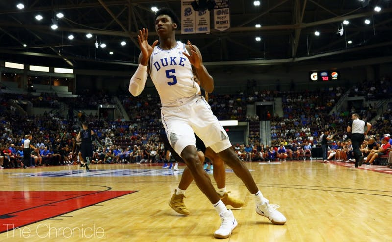 R.J. Barrett scored 35 points against Toronto after dropping 34 on Ryerson Wednesday night.