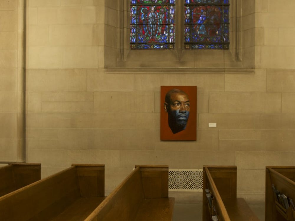 """William Paul Thomas's exhibit """"Sitters in Transit,"""" now on display at the Duke Chapel, depicts locals as well as the artist's family and friends."""