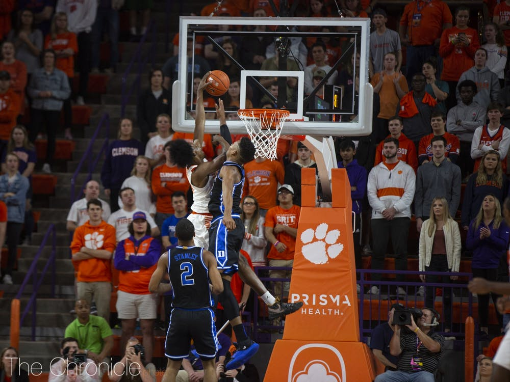 <p>John Newman III's dunk over Javin DeLaurier was the headliner Tuesday, but Duke's defensive woes ran deeper than this play.</p>