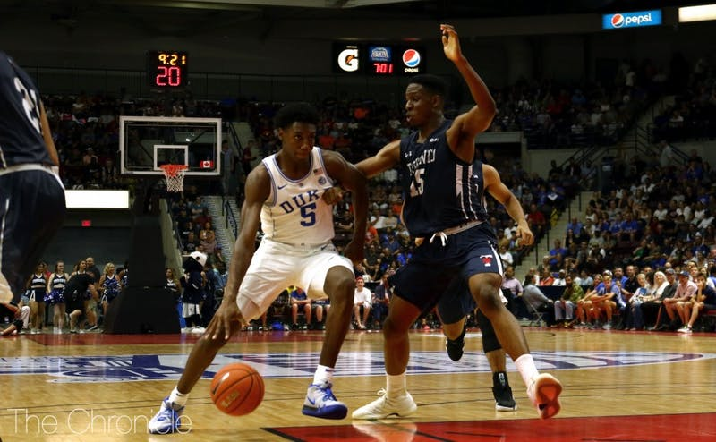R.J. Barrett and the Blue Devils will close out the 2018-19 regular season with a matchup at North Carolina—just one of the highlights of Duke's ACC slate.