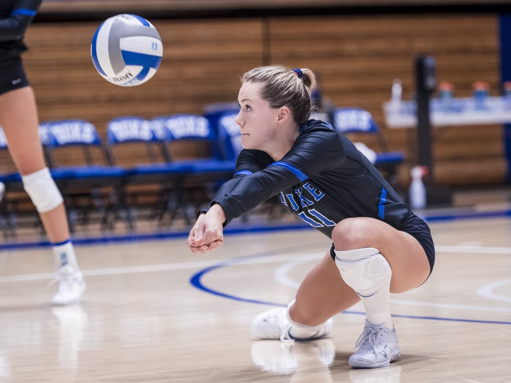 Senior Payton Schwantz impressed in Duke's opening two matches.