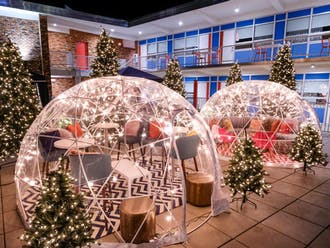 Socially-distanced dining has inspired some creative solutions, but is an expensive, plushly-furnished igloo the best alternative to regular outdoor dining?
