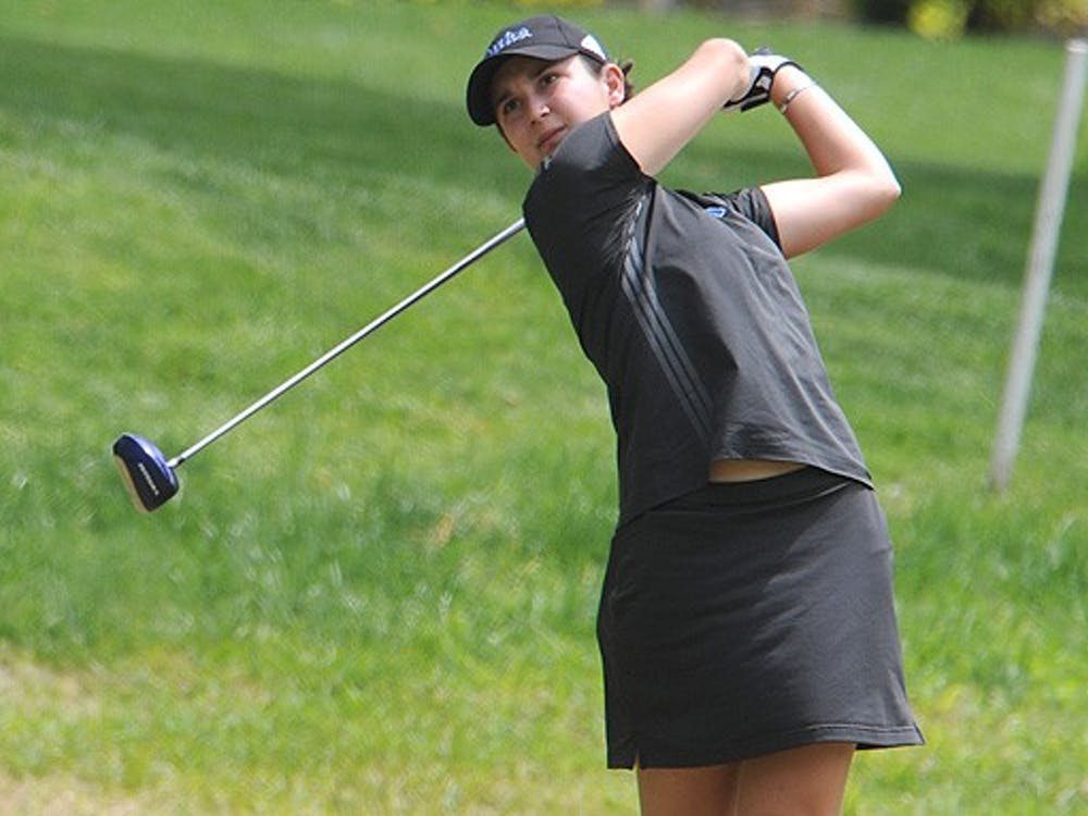 Freshman Lindy Duncan finished tied for fourth individually with teammate Stacey Kim with a score of 3-over par at the ACC Championships.