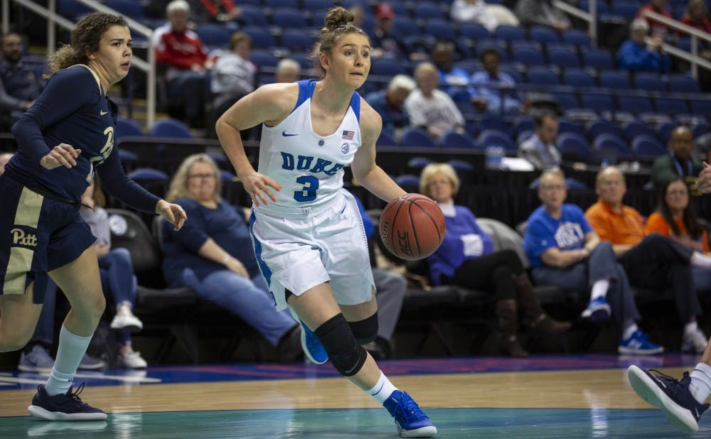 <p>Miela Goodchild and the Blue Devils were unstoppable on the perimeter Wednesday.</p>