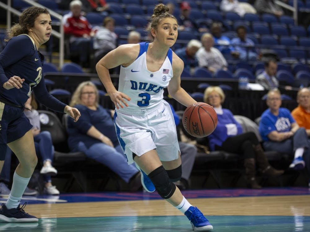 Miela Goodchild and the Blue Devils were unstoppable on the perimeter Wednesday.