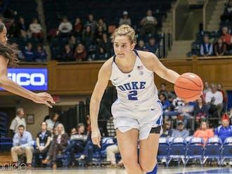 Haley Gorecki has led the Blue Devils in scoring this season.
