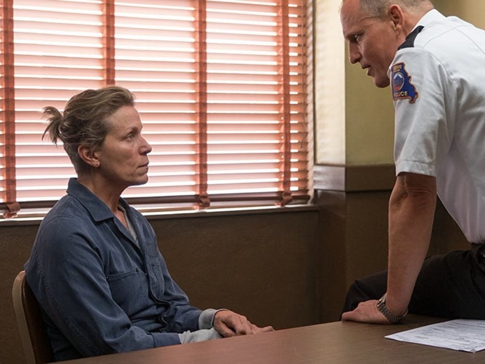 """Frances McDormand and Woody Harrelson star in """"Three Billboards Outside Ebbing, Missouri,"""" which has showtimes at Durham's Carolina Theatre."""