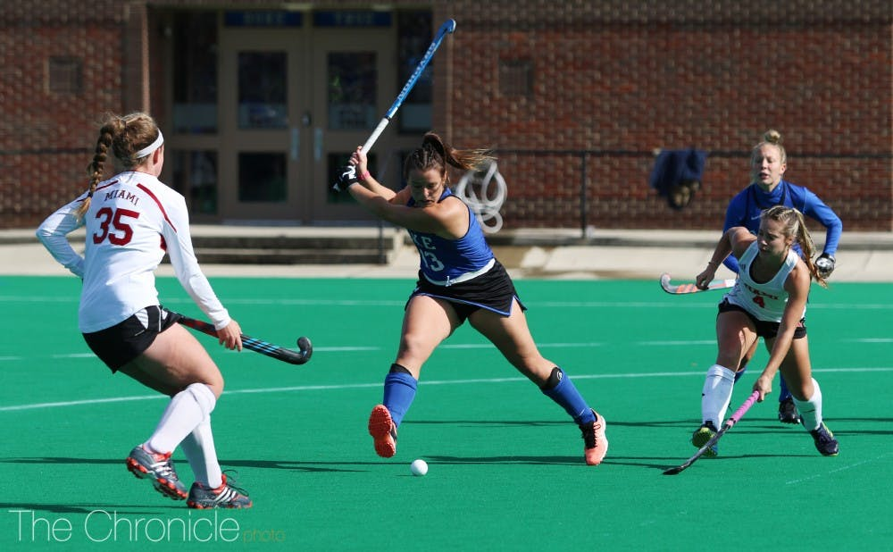 <p>Tynan assisted on the Blue Devils first goal Friday.</p>