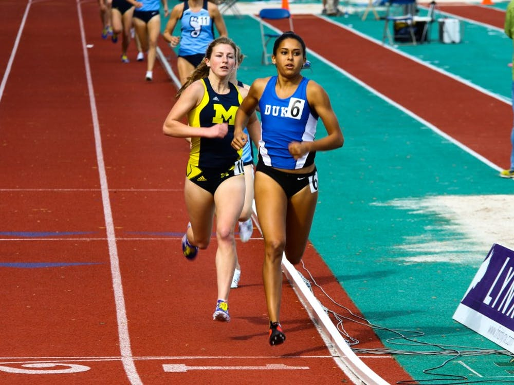 Senior Anima Banks continued her dominance in the outdoor season this weekend, winning both the mile and 800 meters at the Spec Towns Invitational.