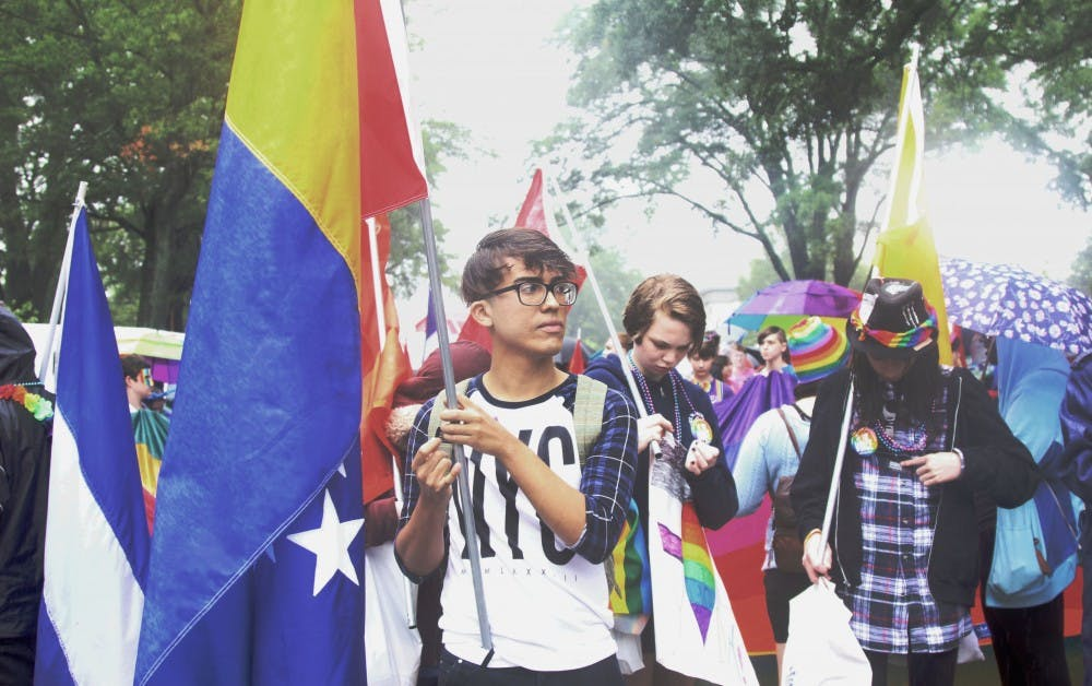 <p>The 31st annual N.C. Pride Parade and Festival on East Campus featured floats, a 5K run, food trucks and tents selling rainbow-colored apparel.</p>