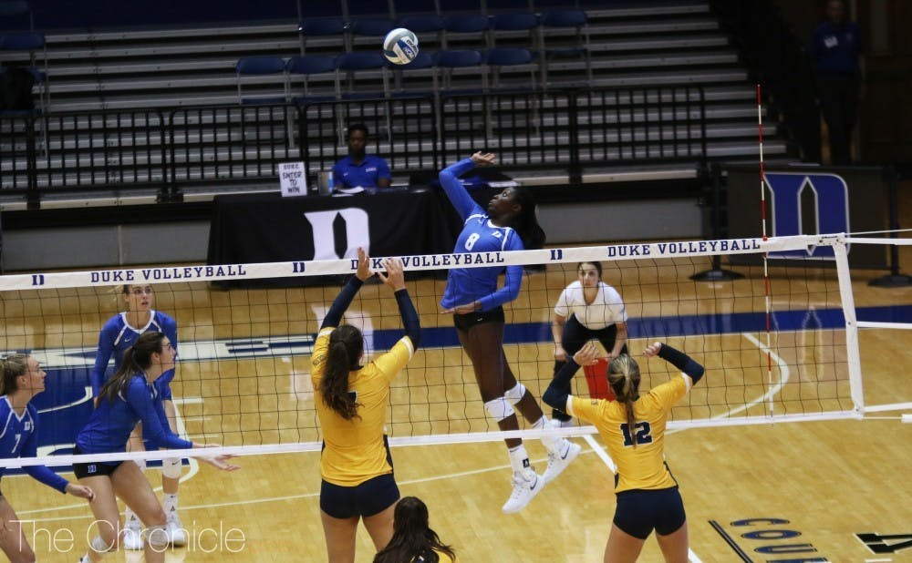 Junior outside hitter Ade Owokoniran was instrumental in helping lead the team through important conversations surrounding racism in America.
