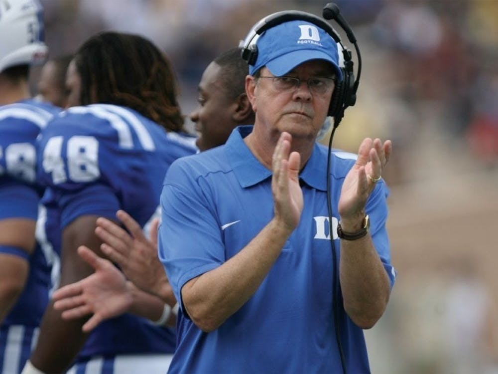 Coach David Cutcliffe and the Blue Devils are looking for their first win in 2019.