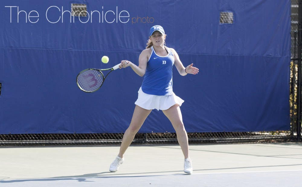 <p>Alyssa Smith and the Blue Devils have won 11 straight ACC matches and will battle for a regular-season conference championship next week.&nbsp;</p>